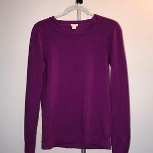 J Crew Factory Purple Teddie Sweater- Size S